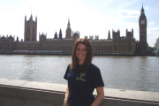 Kate Molinari, a senior political science and French double major from Parkersburg, is interning with a member of British Parliament and playing on the governing body's football team. She is the sixth WVU student to work in the House of Commons.
