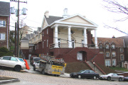 Kappa Alpha fraternity house reopened its doors this fall following a $3.3 million reconstruction project. The fraternity was established at WVU in 1897. The first house was bought in 1907 and occupied until March 2004, when it was demolished. The house h