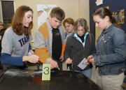 Future sleuths like these forensic students from West Virginia University might someday be all working from the same playbook, courtesy of WVU. The University\'s Forensic Science Initiative is working with the College of Business and Economics and Bu