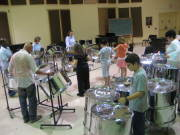 Students in the WVU Community Arts Program enjoy the sounds of the steel drums during a class. The program, which offers many arts-related classes, recently extended registration for the summer.