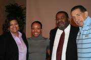 Pictured, from left: Marjorie Fuller, director of WVU's Center for Black Culture and Research; Marvina Walker, winner of the 2009 Martin Luther King Jr. Scholarship; Todd McFadden, associate director of the Center for Black Culture and Research; and