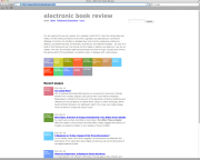 Electronic Book Review journal, now hosted at WVU.