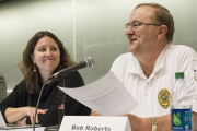Bob Roberts, WVU Police chief, was one of the panelists at the forum.