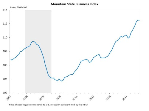 Mountain State Business Index performance since 200726
